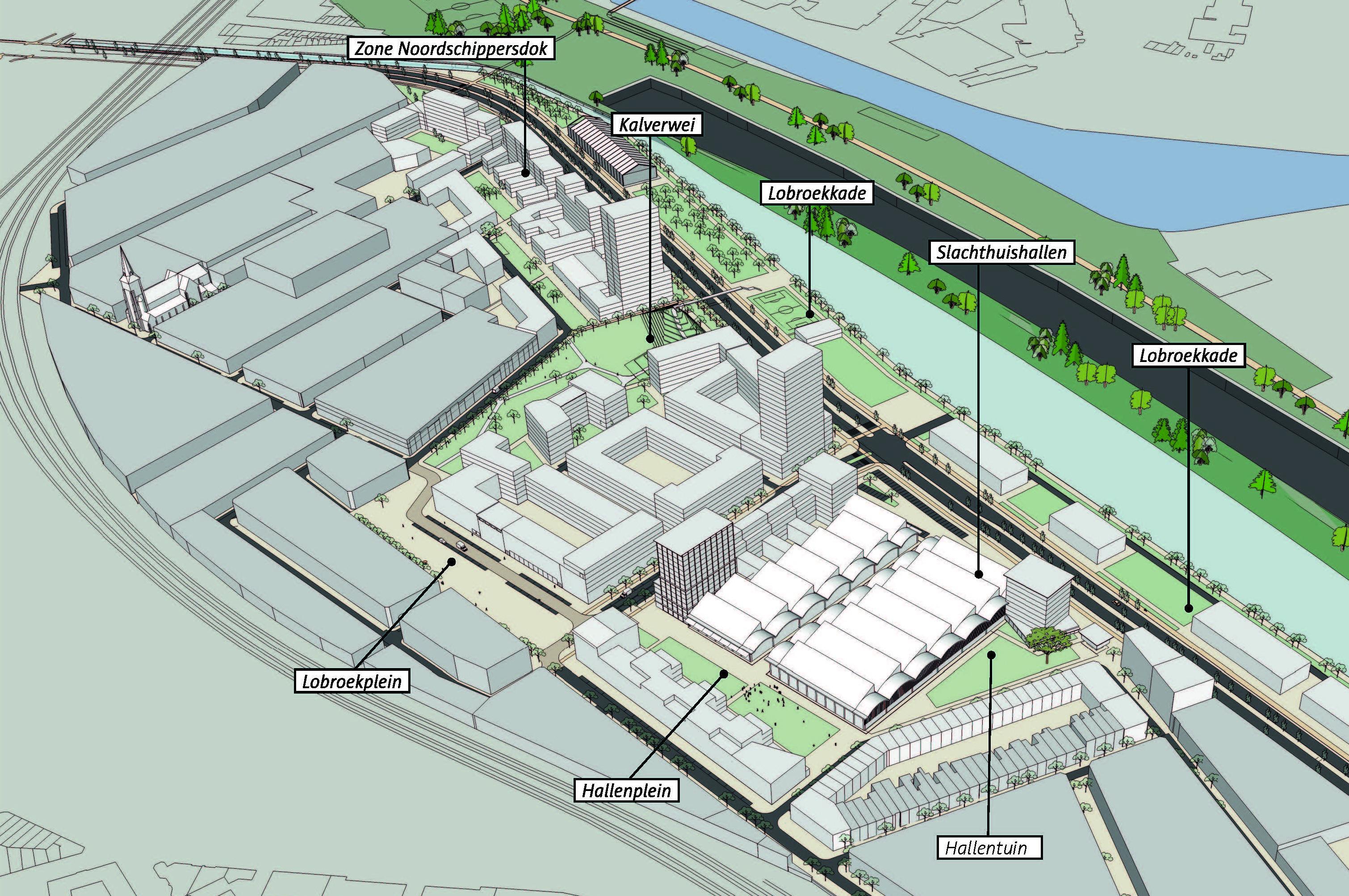 Het definitieve masterplan Slachthuissite - Noordschippersdok - Lobroekdok