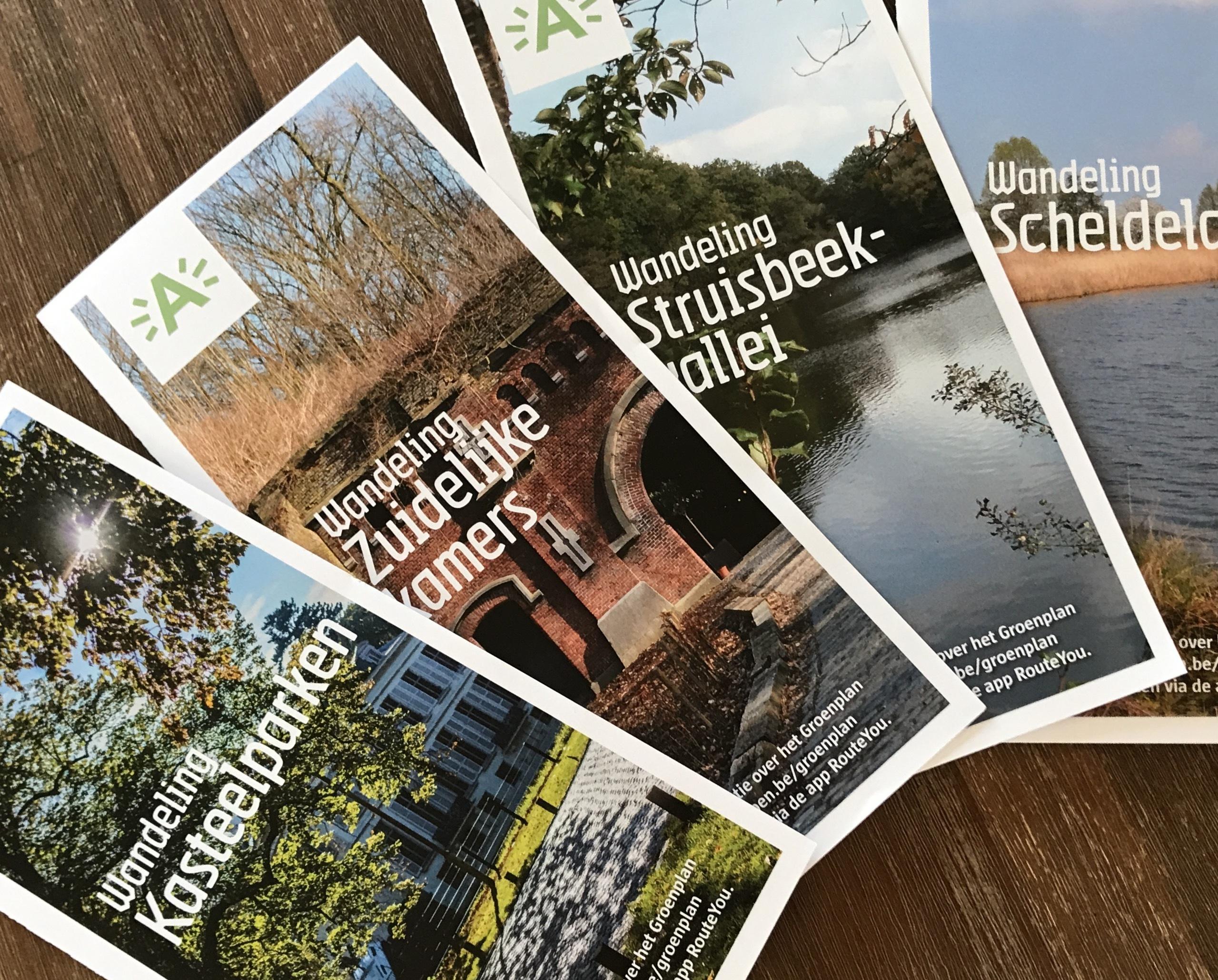 Elk groen landschap heeft een eigen wandelbrochure, te downloaden op deze website onder 'media en nieuws'.