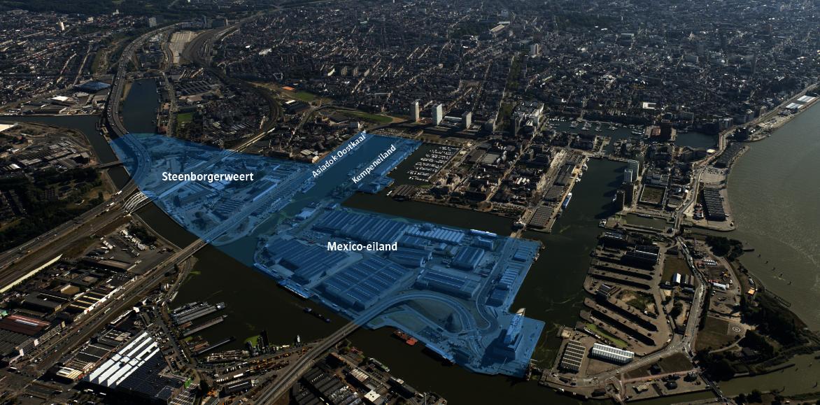 Projectgebied afbakening innovatieve stadshaven